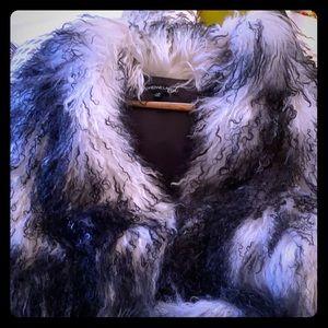 Authentic fur chic vest